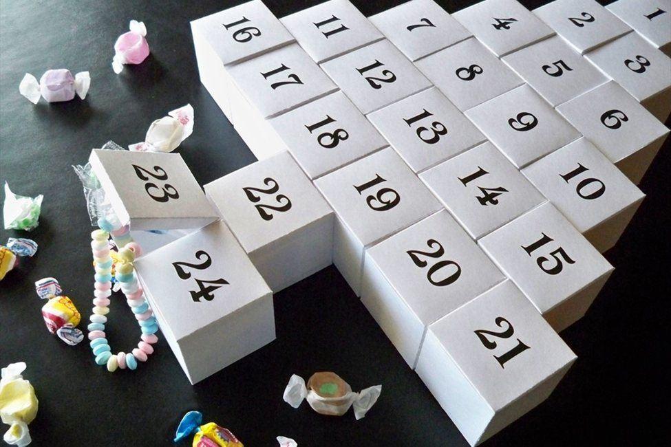 Адвент календарь к новому году своими руками