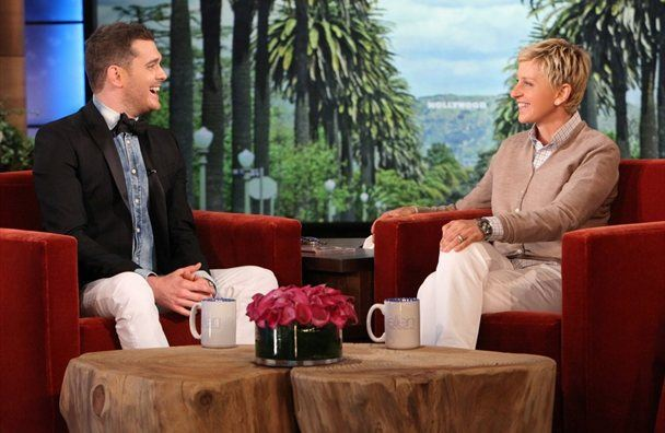 ELLEN in gost Michael Buble, danes ob 16:40