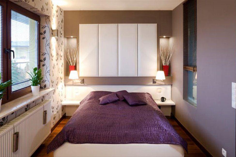 Дизайн спальни узкой комнаты
